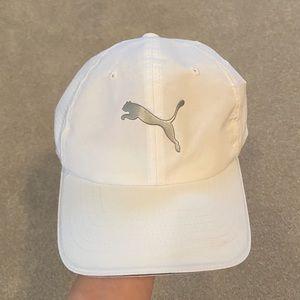 Bright white puma hat